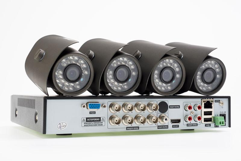 security cameras with a DVR
