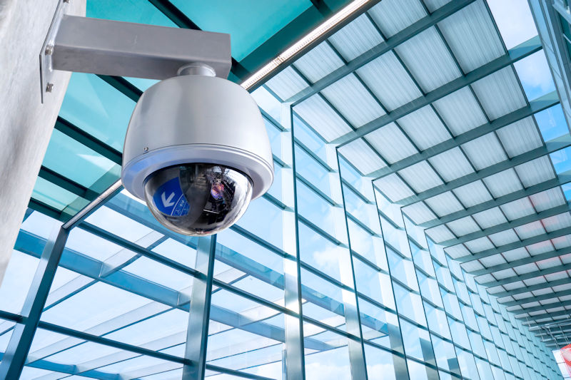 security camera in a ball