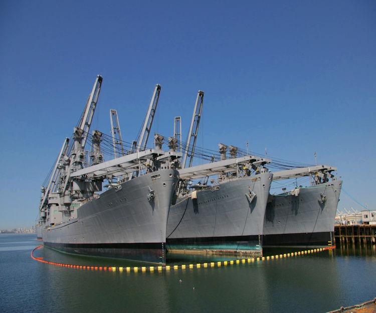 Navy Ships in Alameda